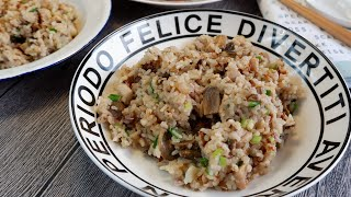 Make One Pot Rice with a Can of Cream of Mushroom 奶油蘑菇饭 Cream of Mushroom Rice Recipe (Rice Cooker)