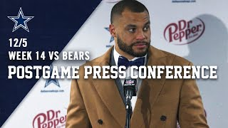 Dak Prescott On TNF Loss To Chicago Bears | Dallas Cowboys 2019