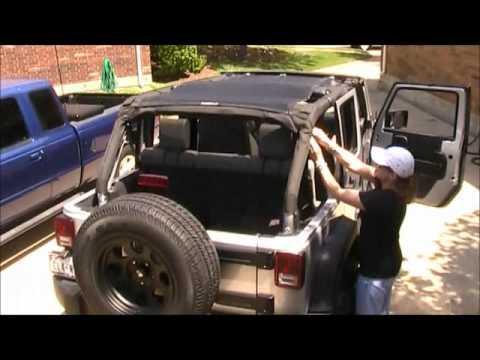 My Jeep Wrangler Jk Bikini Top Youtube