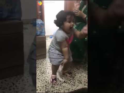 احلى رقص شرقي لطفله بالعالم  فشرت نجوى فؤاد   😂 طراءف مروان ظاظا thumbnail