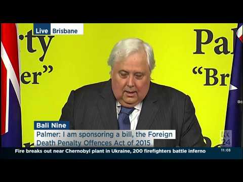 Clive Palmer - Foreign Death Penalty Offences (Preventing Information Disclosure) Bill 2015