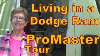 Carolyn Living in a Dodge Ram ProMaster--Tour