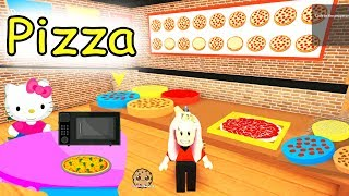 Cashier Work at a Pizza Place Restaurant Roblox - Let's Play Online Games