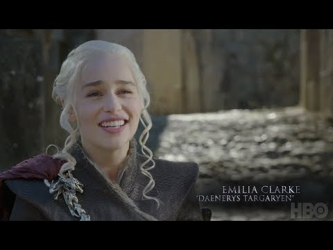 Emilia Clarke and Kit Harington discuss Jon and Dany's first meeting