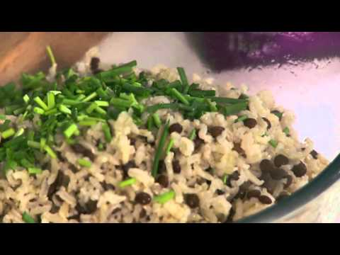 Sea Bass with Warm Rice & Lentil Salad Recipe – presented by celebrity chef Jo Pratt