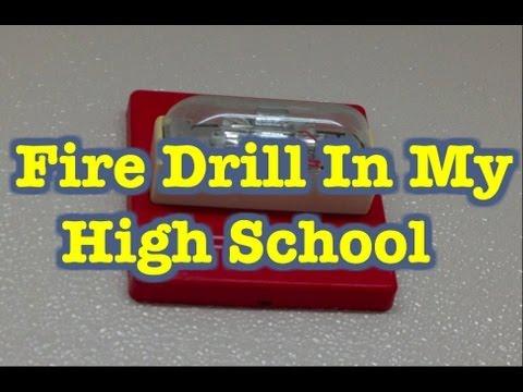 Elementary School Fire Drill Fire Drill in High School