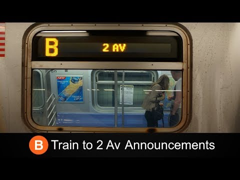 ᴴᴰ R160 B Train to 2 Ave Announcements - From 145 St to 2 Ave