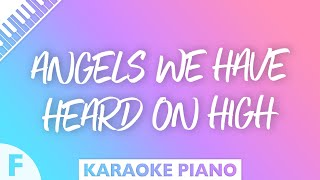 Angels We Have Heard On High Piano Karaoke Instrumental Key Of F