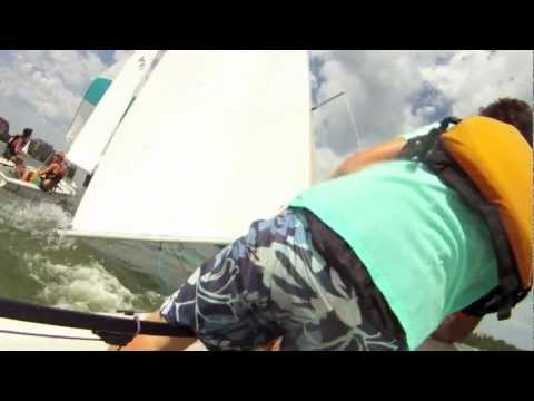 Extreme Sailing on a Prototype Vector Skiff and 420, Sailboat racing, tipping, trapeze and spinnaker