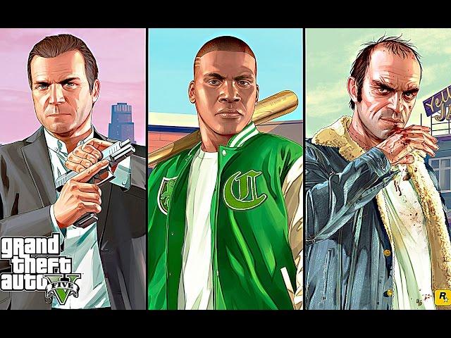Grand Theft Auto V (GTA 5) FULL MOVIE All Cutscenes - Grand Theft Auto 5 PS4