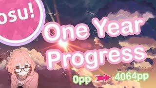 My One Year Progress in osu! (Mostly)