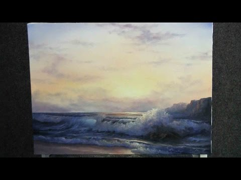 Paint with Kevin Hill - Sunlit Ocean Wave