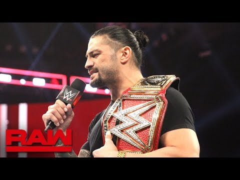 Roman Reigns relinquishes the Universal Title to battle his returning leukemia: Raw, Oct. 22, 2018 thumbnail