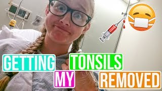 My Teenage Tonsil and Adenoids Removal Surgery Experience/Vlog - 2017