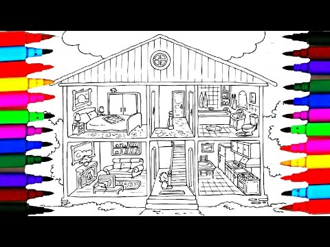 Coloring Pages Bathroom l Bedroom l Dining Room l Washroom Drawing Pages To Color For Kids