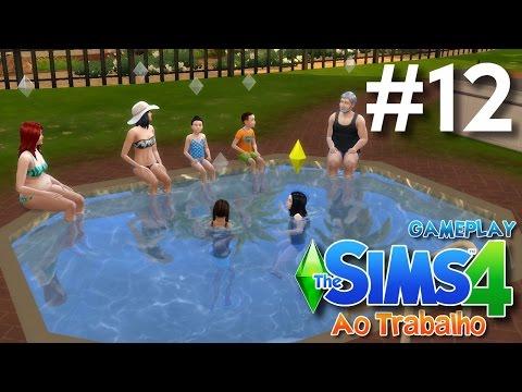 The Sims 4 Ao Trabalho #12 - Um dia na piscina