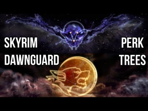 Skyrim Dawnguard: Vampire Lord and Werewolf Perk Tree