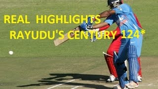 Ambati Rayudu scores 2nd ODI century in India vs Zimbabwe 2015, 1st ODI at Harare