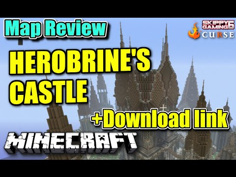 MINECRAFT - PS3 - HEROBRINES CASTLE HUNGER GAMES MAP REVIEW + DOWNLOAD LINK ( PS4 ) TU19
