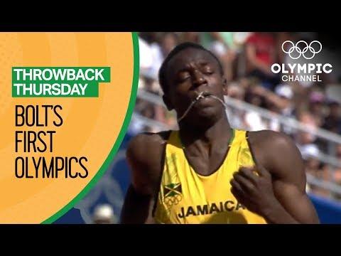 Usain Bolt's First Olympic Race | Throwback Thursday thumbnail
