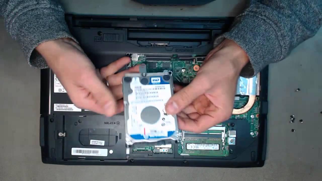 Замена жёсткого диска на ноутбуке своими руками 87