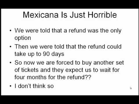 Mexicana Airline Bankruptcy Hurts People Who Booked-Cancelled Flights And No Timely Refund