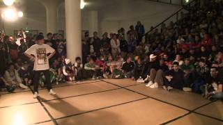 IBE 2010 - Footwork Battle Final: Intact (Ruffneck Attack) vs Bgirl A.T. (FlowMo)