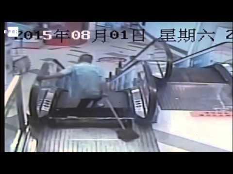 Otro accidente en una escalera mecánica