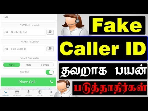 Fake Caller ID With Voice Changer Male to Female During Call | Tamil What Happened Next