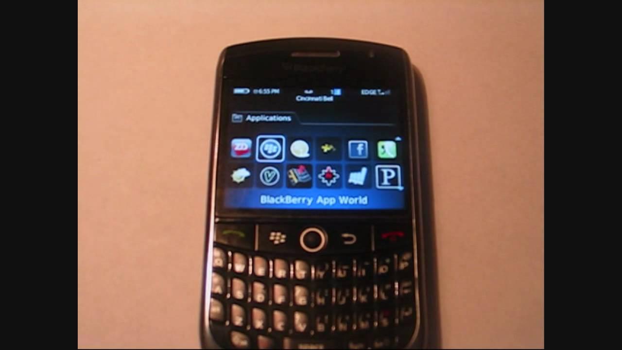 Blackberry curve 8900 favorite applications youtube for Application miroir blackberry