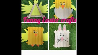 DIY Easter crafts with popsicles / ice cream sticks for kids |Summer activities for kids|