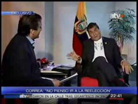 Rafael Correa destroza a periodista peruano. El ser humano sobre el capital. COMPLETO