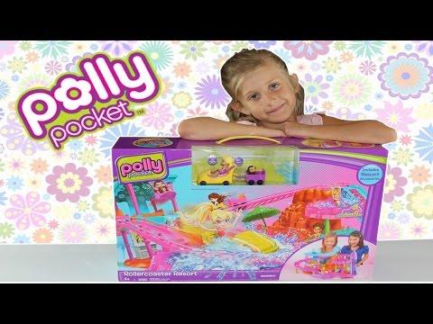 Polly Pocket Rollercoaster Resort Unboxing and Review