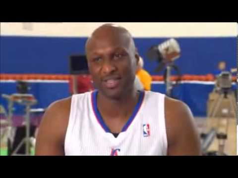 Hi! Im Lamar Odom of the LA Lakers OOPS!