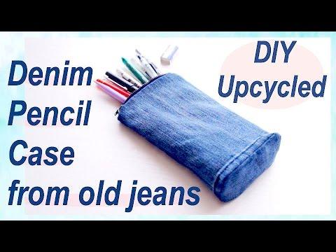 Refashion DIY Upcycled Denim Pencil Case デニム ✂️ リメイクㅣmadebyaya