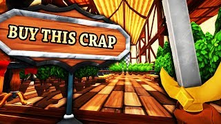 I Made Millions Beating Up Customers and Glitching the Game - Shoppe Keep 2 - Let's Game It Out