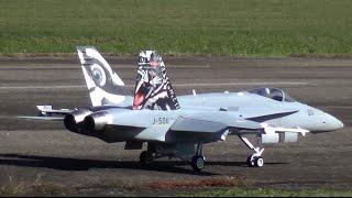 Low pass RC Jet F/A-18 Staffel 11 turbine model Show Hausen a.A