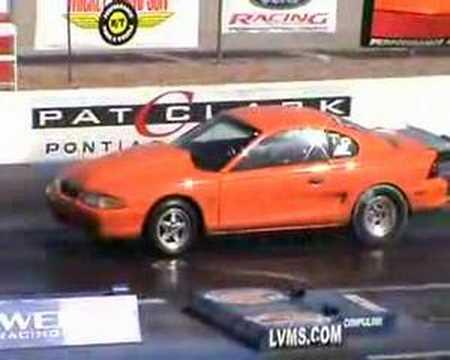 Mustang runs 7.7