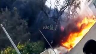 Fire Accident In Plastic Godown In Bowenpally | Hyderabad | Sakshi TV