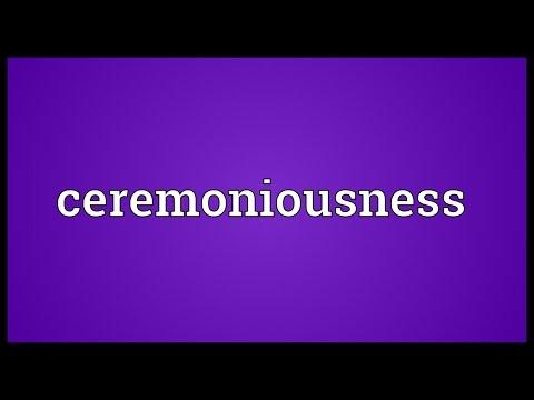 Header of ceremoniousness