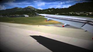 [FSX] Airbus A320 Final Approach in Innsbruck [Soft Landing]