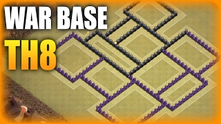 Download Town Hall 8 (TH 8) War Base Anti 3 Star + Defense Log | NEW 2017 | Clash Of Clans 3Gp Mp4