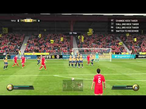 "LEIGHTON BAINES FREE KICK ""MARLEY DID WHAT"" Fifa 16"