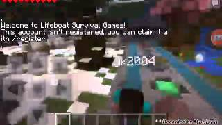 Minecraft pe Hunger gamese girme