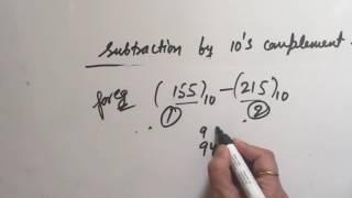 10's complement subtraction
