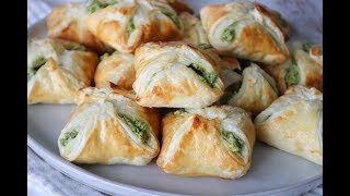 Heavenly Spinach, Parsley And Feta Cheese Puff Pastry Pockets - By One Kitchen
