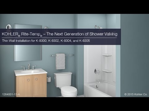 Thin Wall Installation - Rite-Temp - The Next Generation in Shower Valving