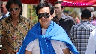 Jackie Chan Arrives To Beverly Hills To Meet Chris Tucker For Rush Hour 4 - 6.1.15