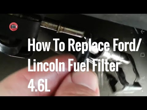 How to replace a fuel filter on a Lincoln. Ford or Mercury car/truck.