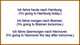 Today, Tomorrow   The Day After Tomorrow  German Course   YouTube